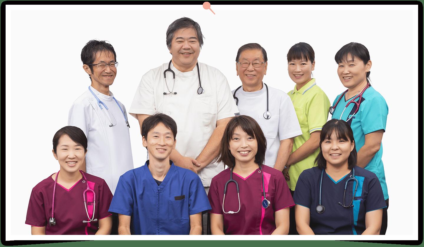 たまふれあいクリニックの診療ドクターと診療看護師のスタッフ写真